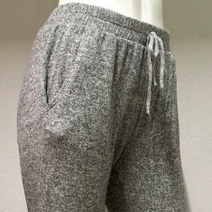 Grey heather joggers